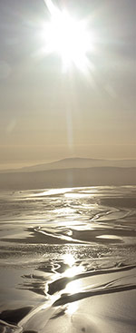 Morecambe Bay sunset from the air