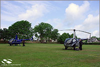 Positioning R44 helicopters for a job
