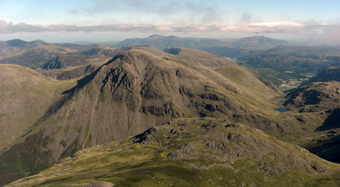 A helicopter flight around the Lake District is an amazing way to see the dramatic scenery.